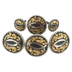 CBCONCH 112 Jesus Fish Conchos - Corriente Buckle