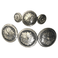 CBCONCH 115 Silver Flower Conchos - Corriente Buckle