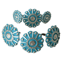 CBCONCH 120 Turquoise Wagon Wheel Conchos - Corriente Buckle