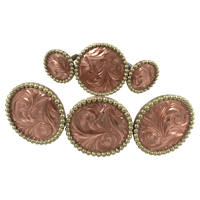 CBCONCH 122B Copper Engraved Conchos - Corriente Buckle