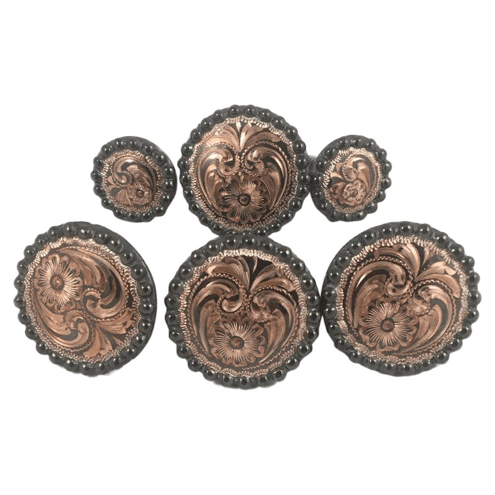 CBCONCH 122C Copper Engraved Conchos - Corriente Buckle