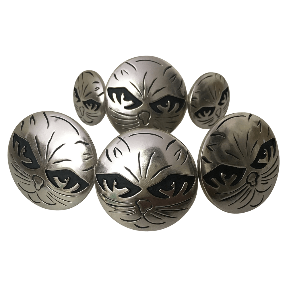CBCONCH 124 Black Cat Eye Conchos - Corriente Buckle