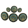 CBCONCH 124A Turquoise Indian Head Dress Conchos - Corriente Buckle