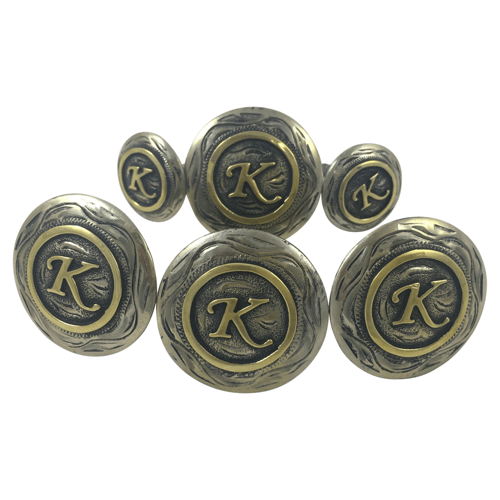 CBCONCH 125 Silver and Brass Custom Conchos - Corriente Buckle