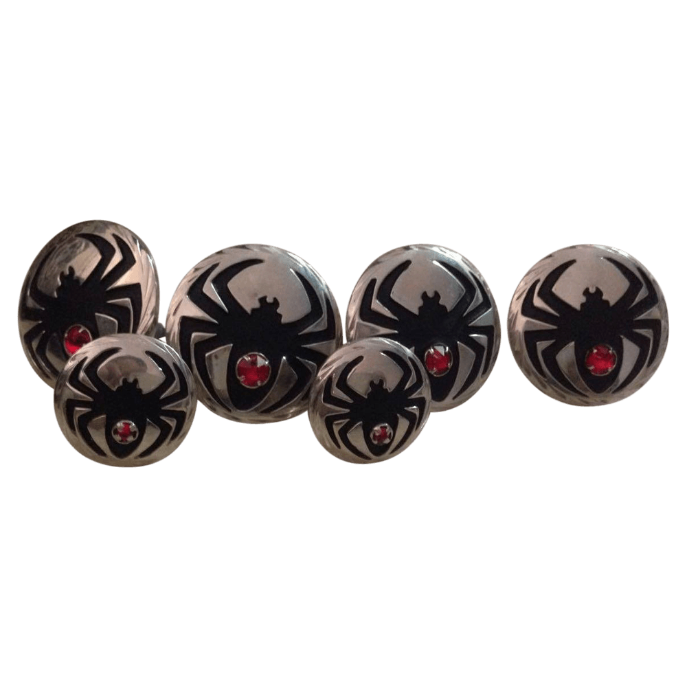 CBCONCH 127 Black Widow Conchos - Corriente Buckle