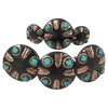 CBCONCH 129AA Turquoise Stone Conchos - Corriente Buckle