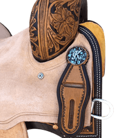 CBCONCH 130 Crushed Turquoise Stone Conchos - Corriente Buckle