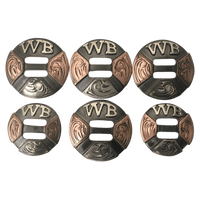 CBCONCH 135 Custom Slotted Conchos - Corriente Buckle