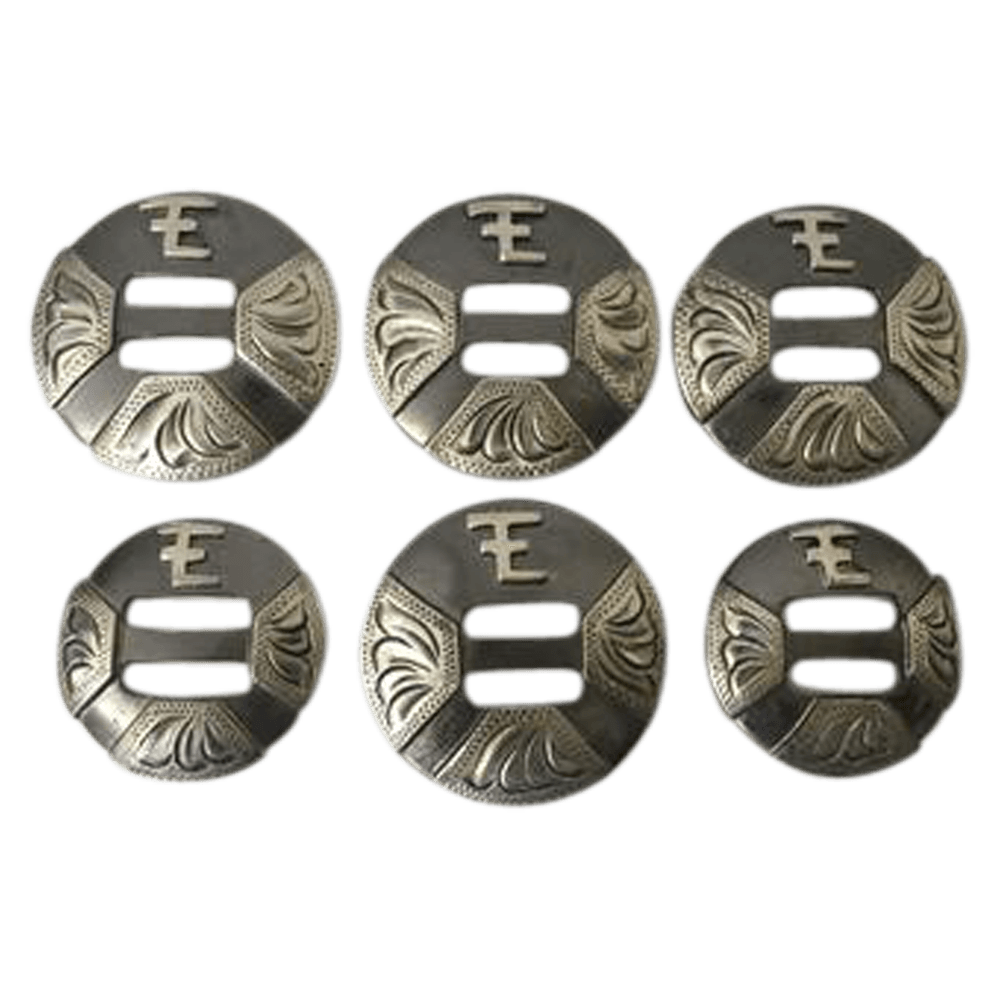 CBCONCH 145 Initials on Slotted Conchos - Corriente Buckle