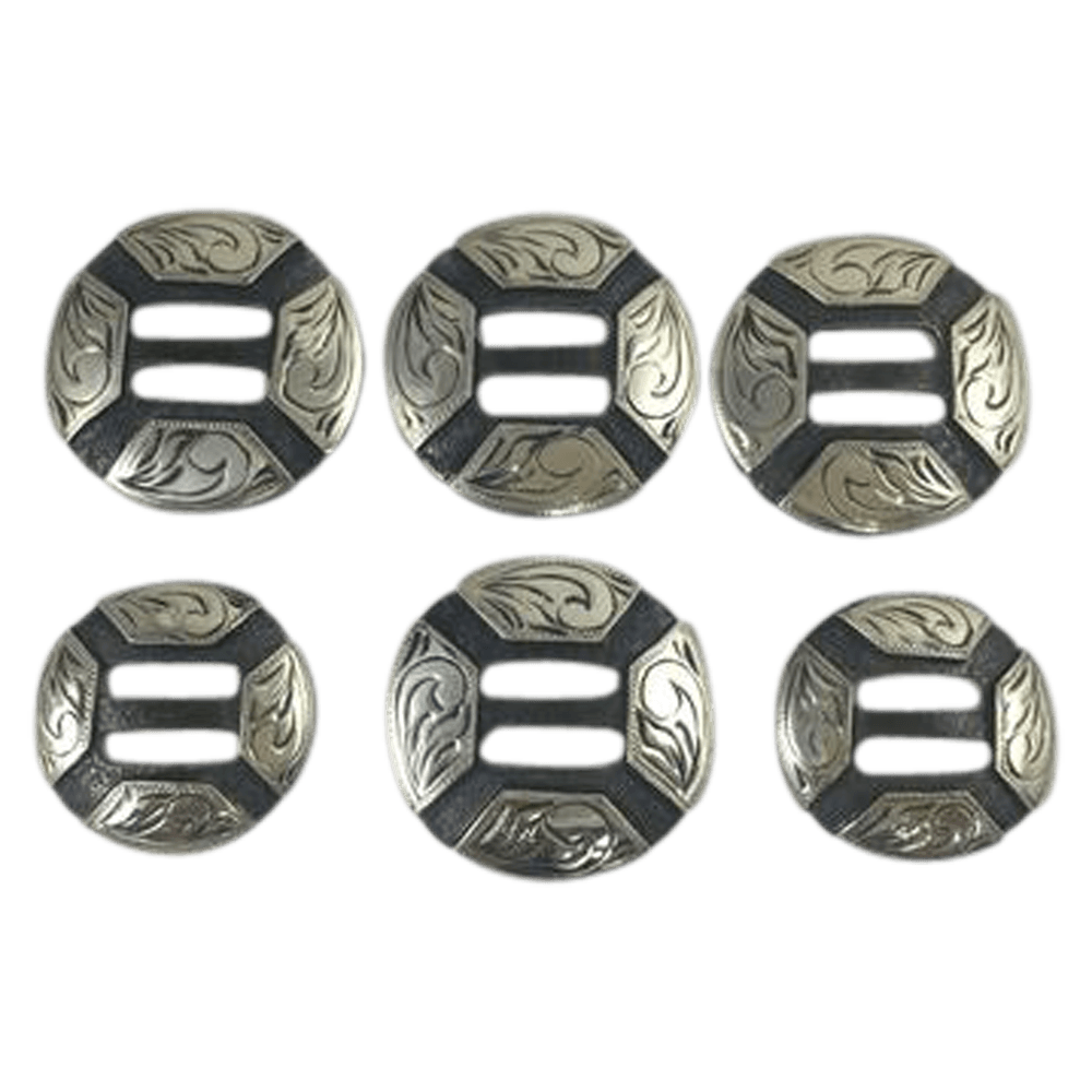 CBCONCH 145A Initials on Slotted Conchos - Corriente Buckle