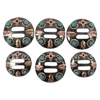 CBCONCH 149D Turquoise Stone with Zia Conchos - Corriente Buckle