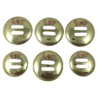 CBCONCH 155A Brass Slotted Conchos - Corriente Buckle