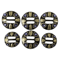 CBCONCH 160 Purple Stone Conchos - Corriente Buckle