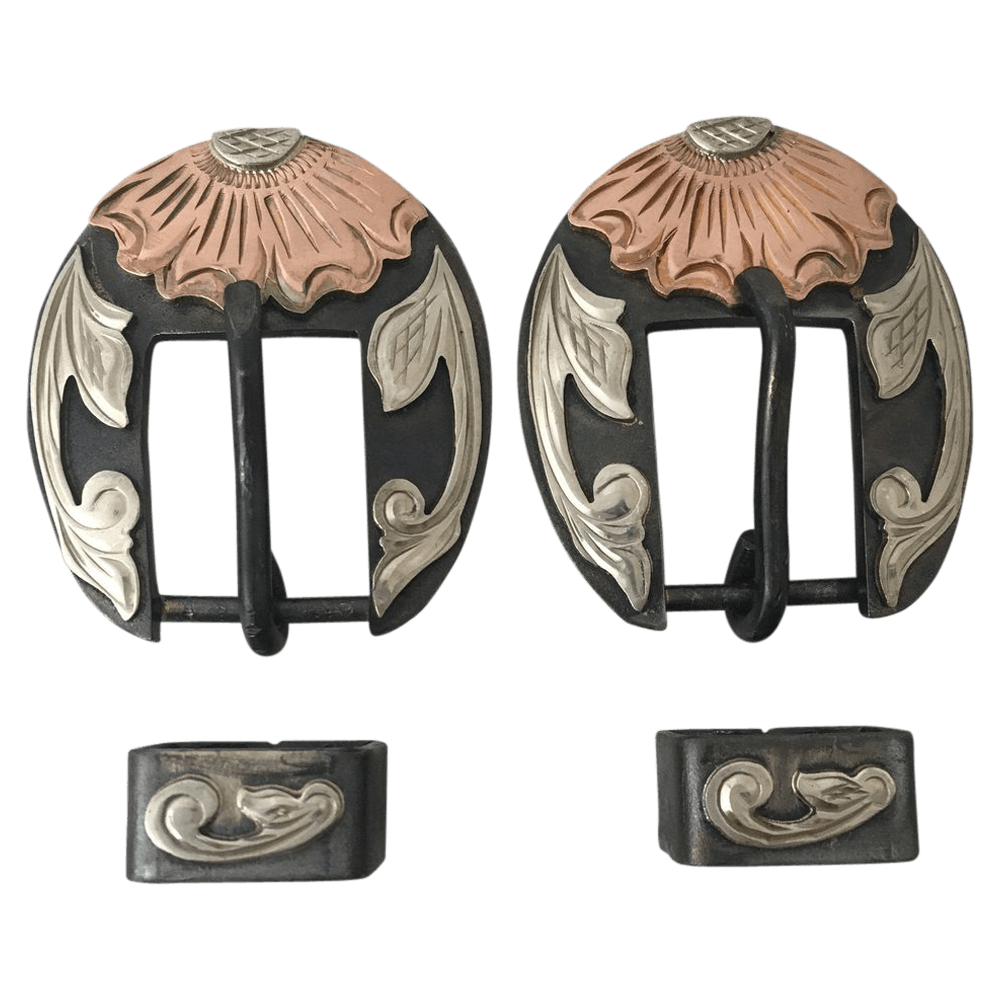 CSHB 100 Flower Headstall Buckles - Corriente Buckle