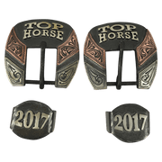 CSHB 102A Custom Headstall Buckles - Corriente Buckle