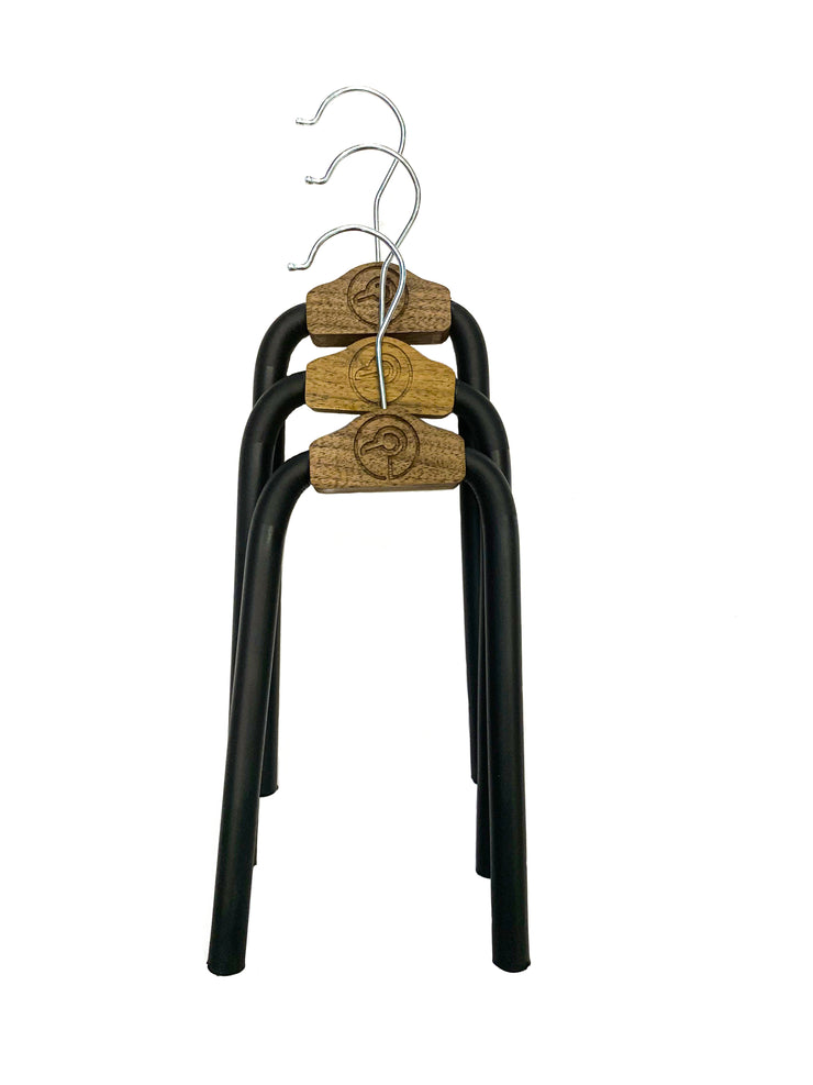 3-Pack Walnut Hangio Hangers