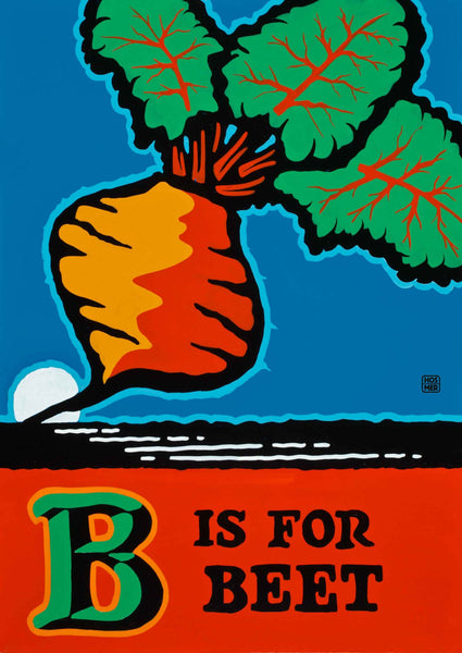 B is for Beet Postcard