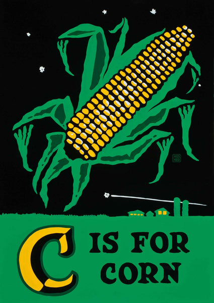 C is for Corn Postcard