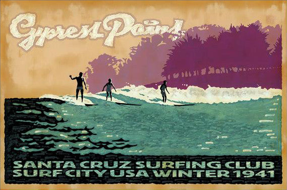 Cypress Point Surfing Club Postcard