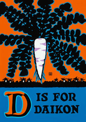 D is for Daikon Postcard