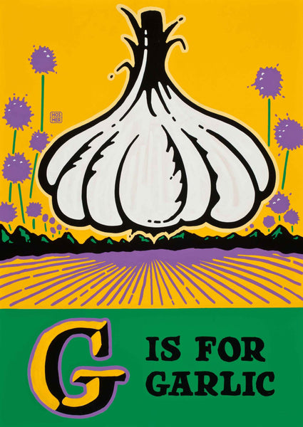 G is for Garlic Postcard