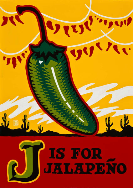 J is for Jalapeno Postcard