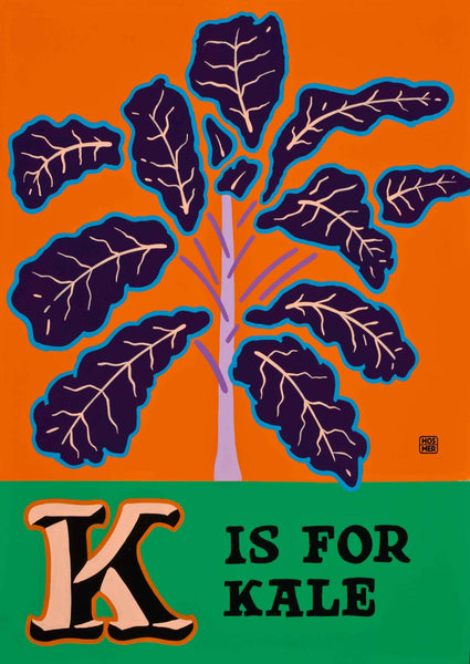 K is for Kale Poster