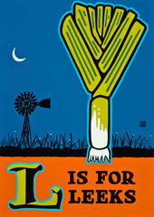 L is for Leeks Poster