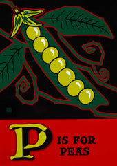 P is for Peas Poster