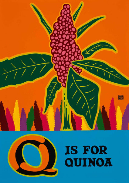Q is for Quinoa Postcard