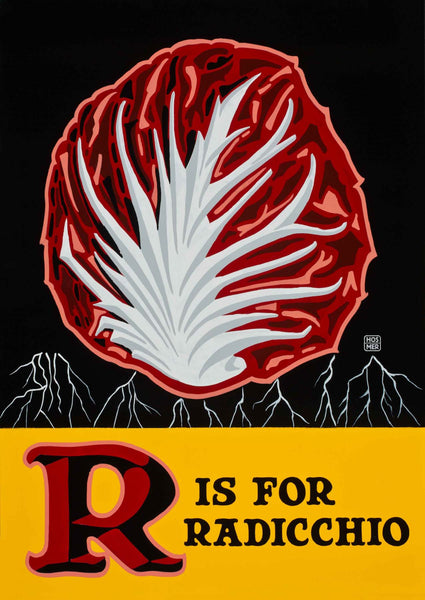 R is for Radicchio Poster