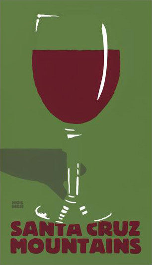 Santa Cruz Mountains Wines Poster