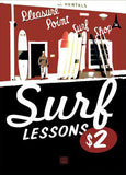 Surf Lessons Poster
