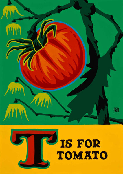 T is for Tomato Postcard