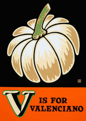 V is for Valenciano Poster