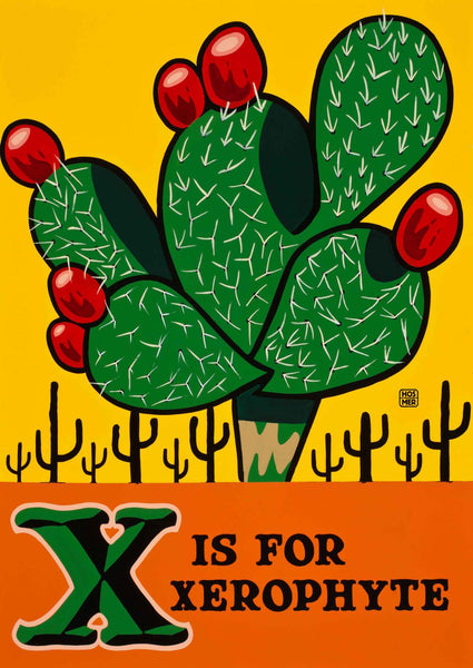 X is for Xerophyte Postcard