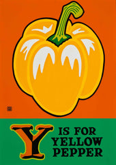 Y is for Yellow Pepper Postcard