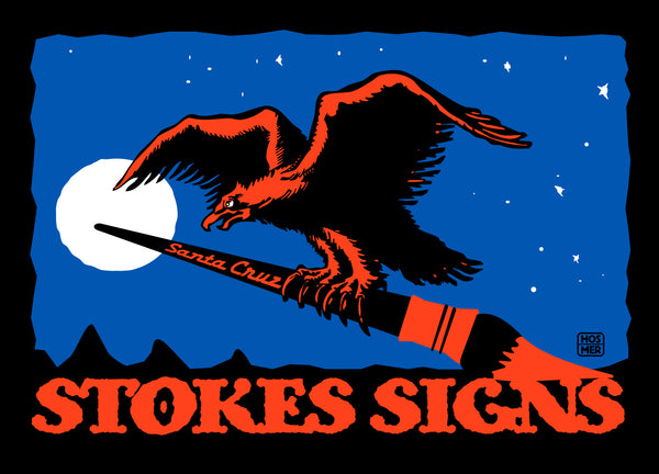 Stokes Signs Eagle Postcard