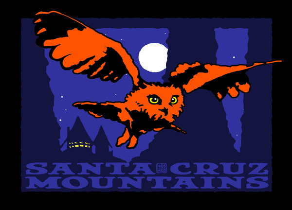 Santa Cruz Mountains Owl Postcard