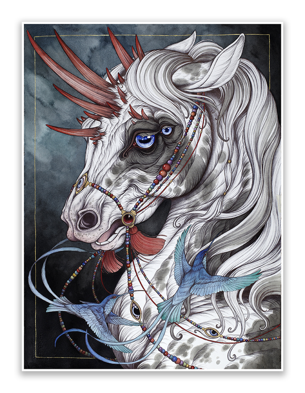 The gift horse by caitlin hackett on the peoples printshop the the gift horse negle Images