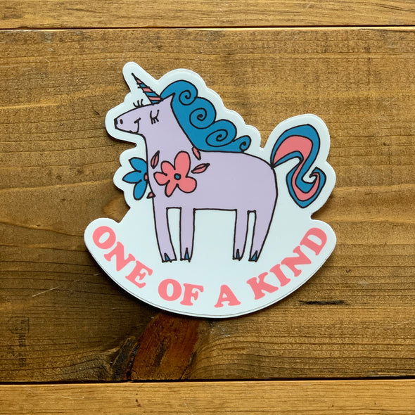 One of a Kind Unicorn Sticker