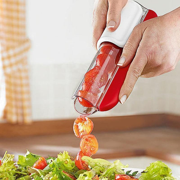 ZipTomato™ - Easy Grape and Tomato Slicer -  Zip, Lock and Slice