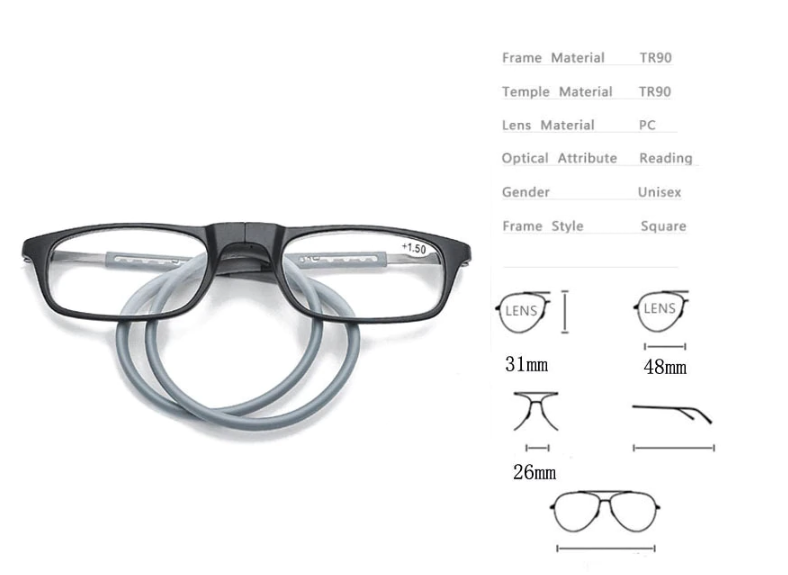 READER™ - Upgraded Magnetic Reading Glasses - The Only Reading Glasses You'll Ever Need!