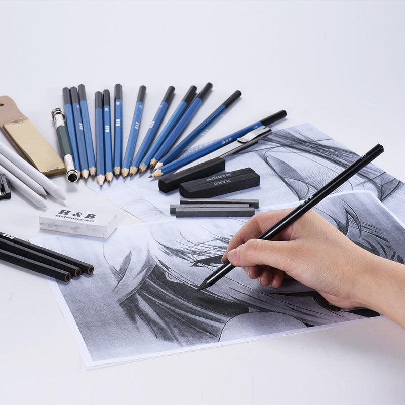 32pcs Professional Sketch Pencil Kit - Jenra Store