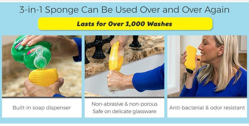 Sponzy™ - Unlimited Sponge - A Revolutionary Dishwashing Tool