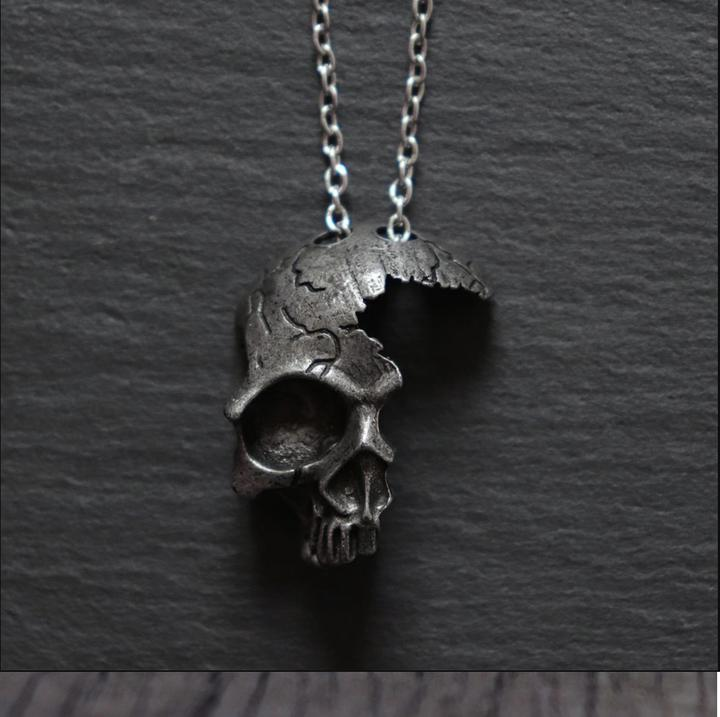 PIRATES - The Broken Skull Necklace - Reality is Inside The Skull.