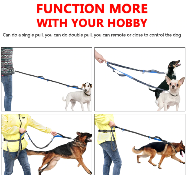 FreeWalk™- Dual Handle Hands-Free Dog Leash - Never Struggle to Walk with Your Dog Again
