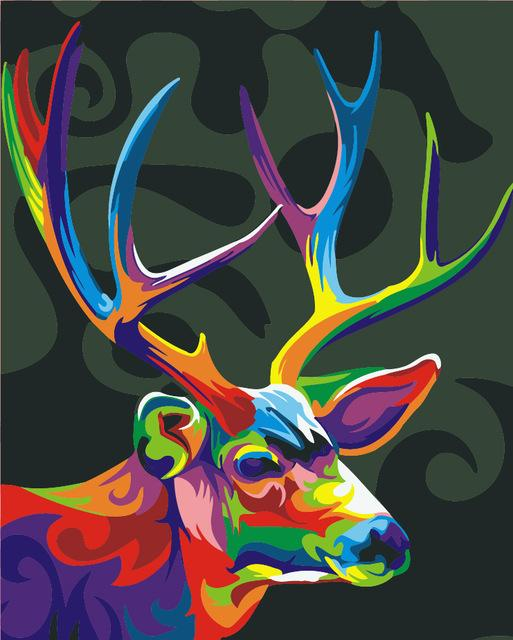Artistic Antler - Painting By Numbers - Jenra Store