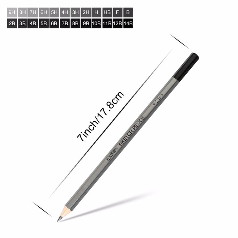 9H-14B Drawing/Sketching Pencil Set - 12/24 Pcs - Jenra Store