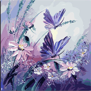 Butterfly & Flowers - Painting By Numbers - Jenra Store